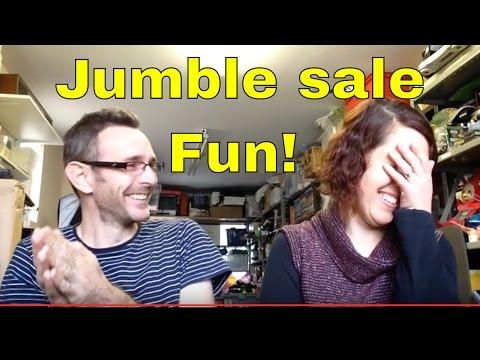 "Jumble sale footage & haul video - Plus Andrea ""gets the elbow"" lol"