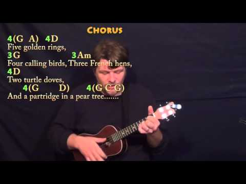 Ukulele ukulele tabs 12 days of christmas : The 12 Days of Christmas - Ukulele Cover Lesson in G with Chords ...