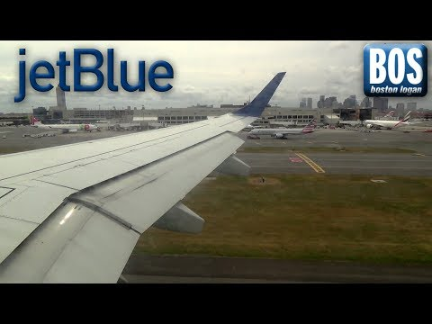JetBlue Airways Embraer 190 Landing at Boston Logan Int