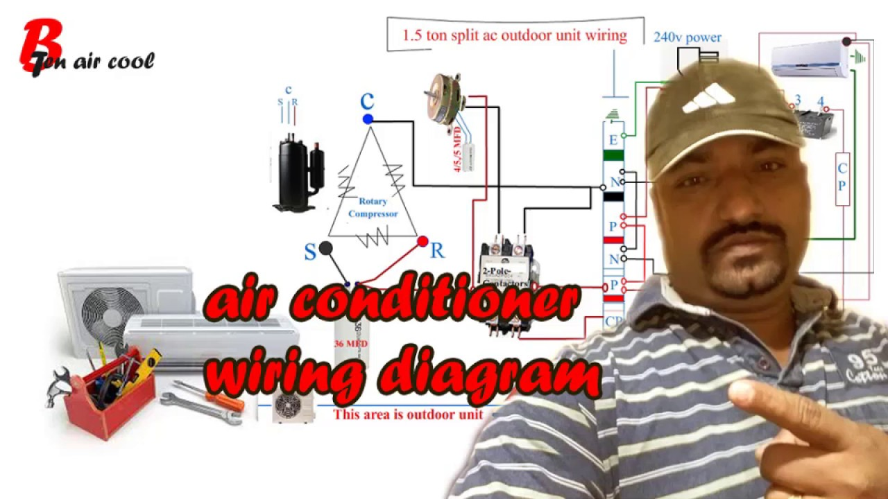 Air Conditioner Wiring Hindi Youtube Outdoor Unit Diagrams