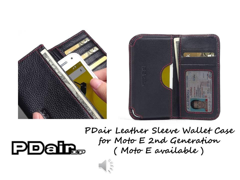 Moto E 2nd Gen Pouch Holster Wallet Sleeve PDair Flip Case