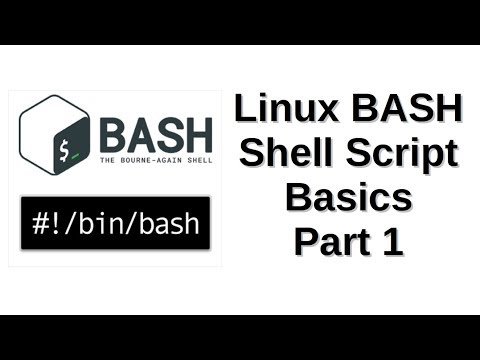 Linux BASH Shell Script Basics Part 1