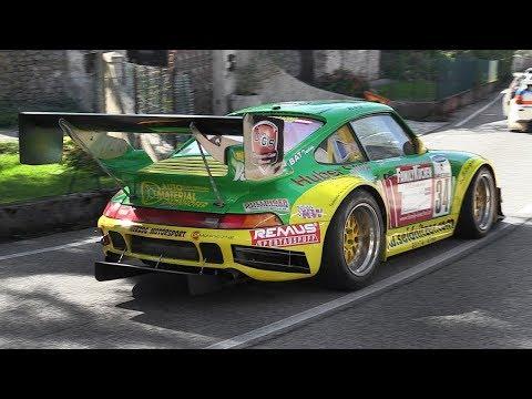 Porsche 993 3.5L Bi-Turbo Bergmonster in action at Cividale-Castelmonte hillclimb!