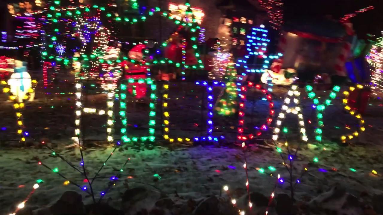 Christmas Lights Around Piqua Ohio 2021 Crazy Christmas House In Piqua Oh Youtube