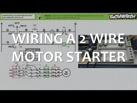 Wiring a Two Wire Magnetic Motor Starter HAND-OFF-AUTO Circuit
