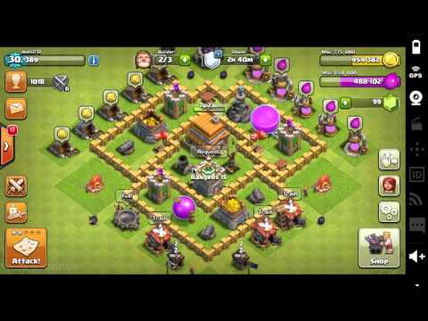 Clash Of Clans War Attack: TH5 Vs TH8 For The Win!