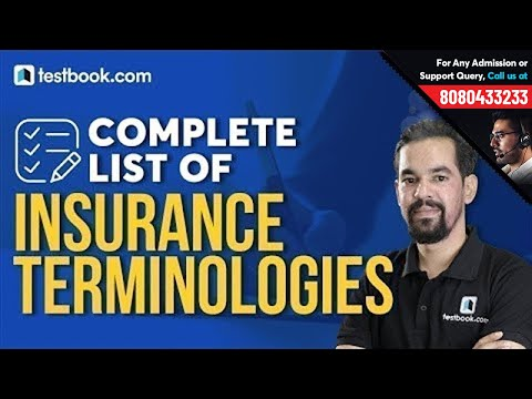 List of Insurance Terminologies | Insurance and Financial Market Awareness for LIC ADO Mains 2019