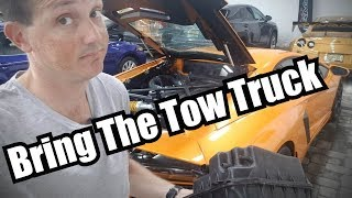 Rental Aventador needed Tow back AGAIN!