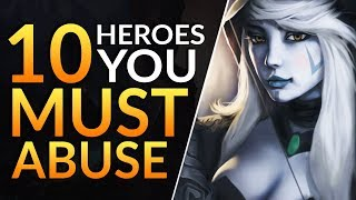 Top 10 BEST HEROES with BROKEN OP Power Spikes - Pro Tips to Solo RAMPAGE | Dota 2 Ranked Guide