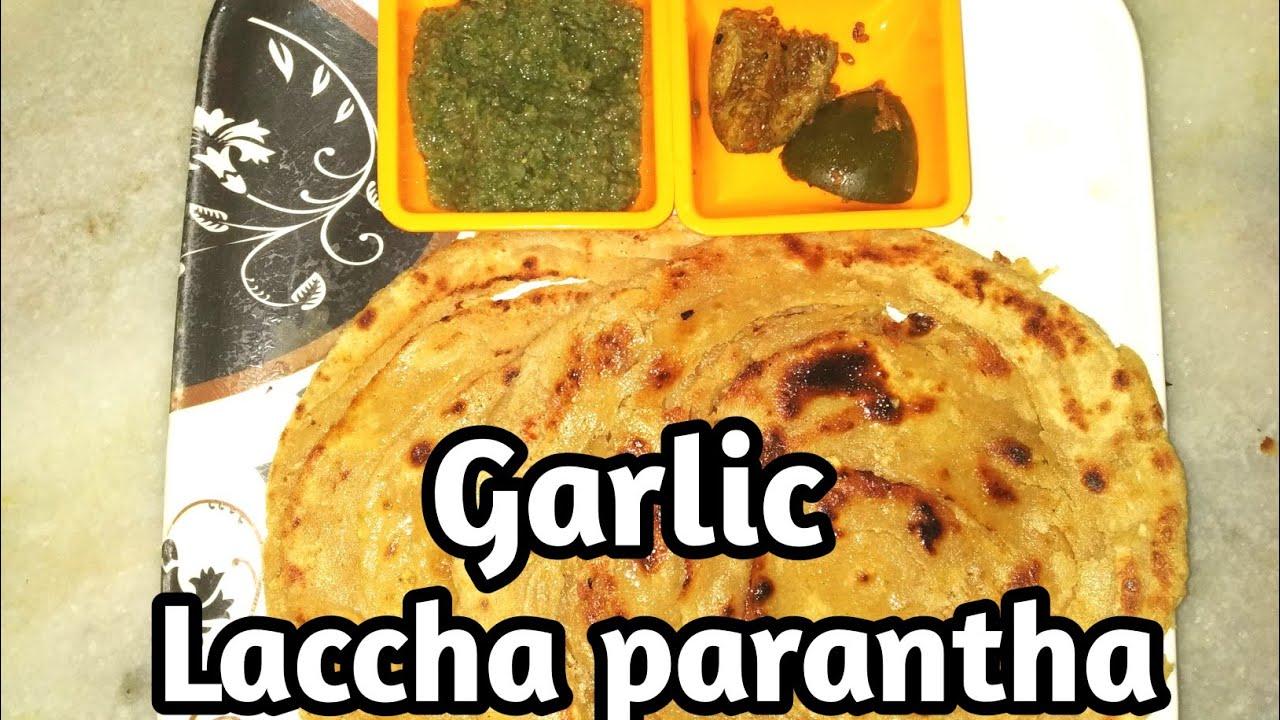 Garlic Laccha Paratha 😋 #YUMMYTUMMYWITHNAVNEET