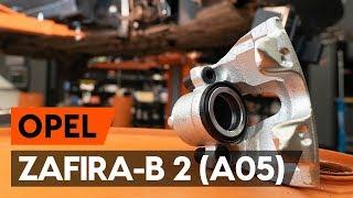 Wie und wann wechseln Radnabe hinten und vorne OPEL ZAFIRA B (A05): Video-Tutorials