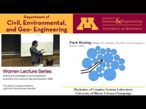 Warren Lecture Series, Sept 16, Ahmed E. Elbanna, University of Illinois at Urbana-Champaign
