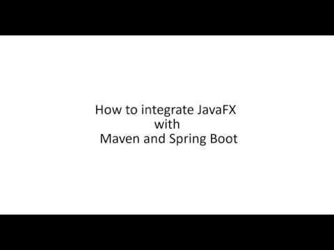 JavaFX+Maven+Spring – Step by step – Drogago