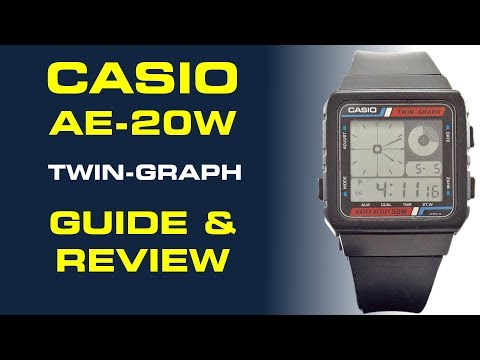 Casio Twin-Graph Watch AE-20W Guide & Review
