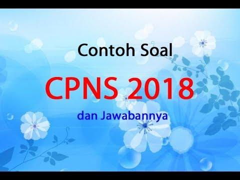Contoh Soal CPNS 2018 PDF dan Jawabannya