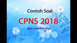 Contoh Soal Cpns 2018 Pdf Dan Jawabannya Qwerty
