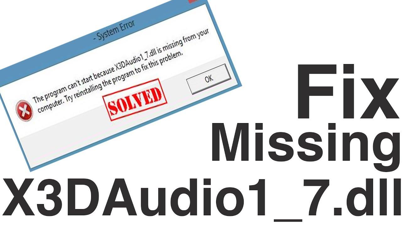X3daudio1_7.Dll Download