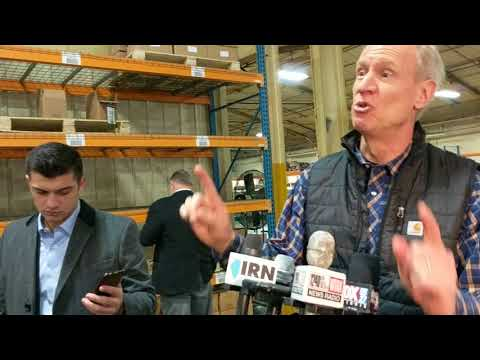 Illinois Gov. Bruce Rauner at Decatur