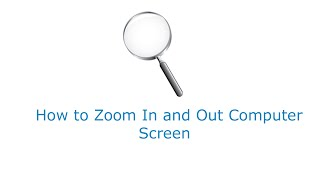 How to Zoom Out Computer Screen