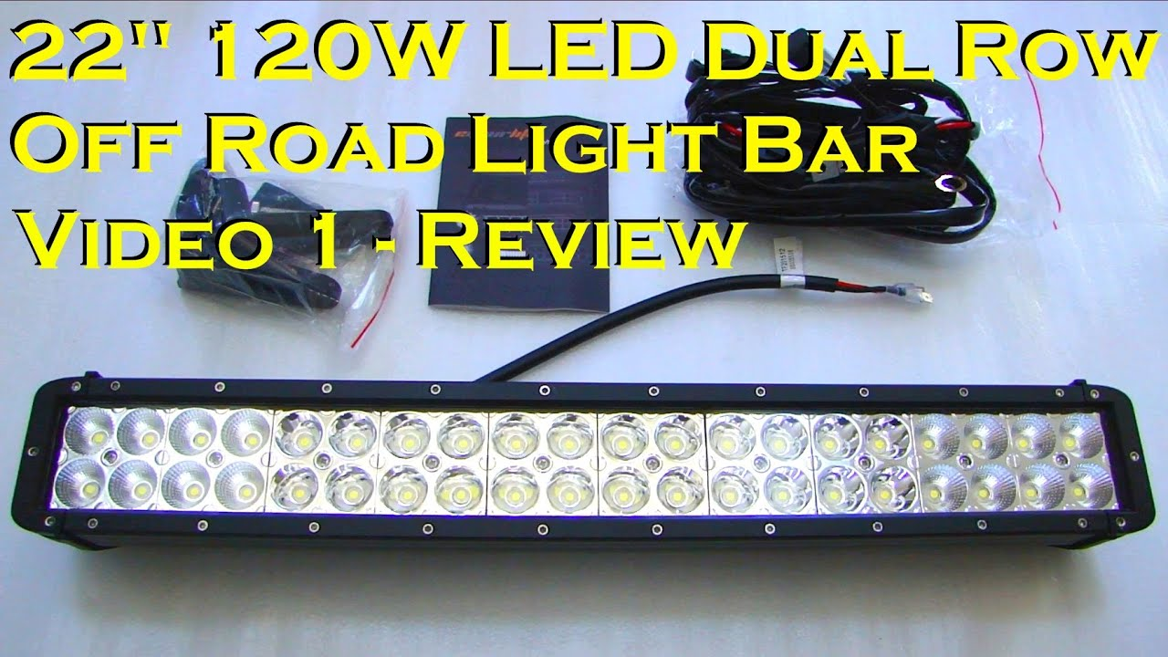 22 120w dual row epistar led light bar review no1parts youtube aloadofball Gallery