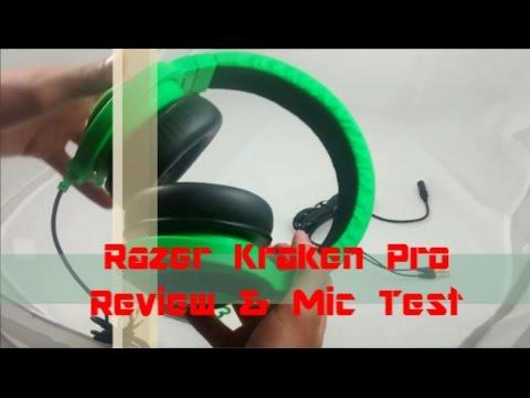 Razer Kraken Pro Review And Mic Test|BEST GAMING HEADSET!