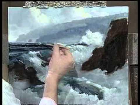 Peindre la mer à l'huile