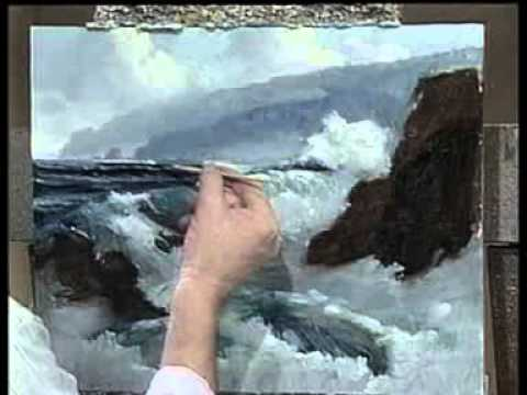 Peindre La Mer  LHuile  Youtube