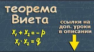 Алгебра 8 класс - Теорема Виета - Видеоурок(Практическое занятие на тему - Квадратные уравнения - https://youtu.be/q6vHOdlMnB8 Группа взаимопомощи решения задач..., 2016-03-18T08:31:28.000Z)