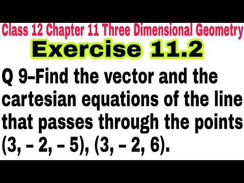 Ch-11 Ex 11.2 Q 9 Class 12 || Three Dimensional Geometry || NCERT Mathematics || 3D