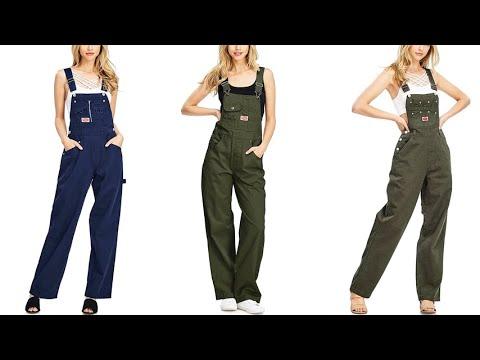 Revolt Womens Juniors Baggy Straight Leg Twill Overalls