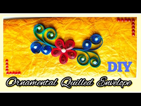 Easy how to make Quilling envelope with flower | handmade paper envelope | DIY 5-minute craft