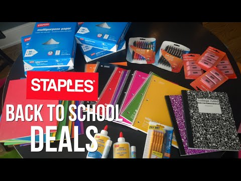 HOT Back to School DEALS at STAPLES! | Deal Shopping with Collin