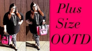 Plus Size OOTD: H&M+ Sweater and Leggings Thumbnail