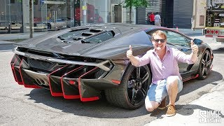 My First Drive in a LAMBORGHINI CENTENARIO!