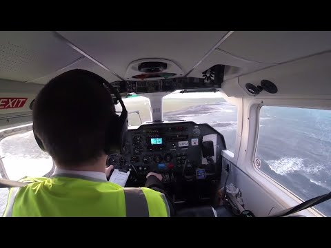 Loganair Full Flight | World's Shortest Flight: Papa Westray to Westray | Britten-Norman Islander