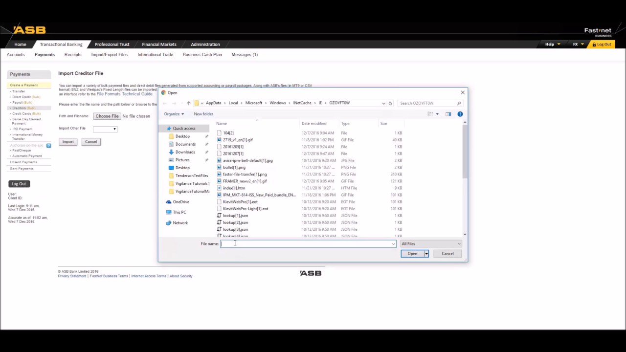 Importing Batch Files into ASB