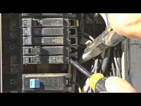 hqdefault how to replace a circuit breaker by everything home tv youtube Fuse Box to Breaker Box at panicattacktreatment.co