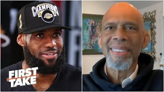 Kareem Abdul-Jabbar on LeBron's legacy & the Lakers winning the 2020 NBA title | First Take