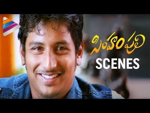 Jeeva trying to impress a woman | Simham Puli Movie Scenes | Santhanam | Divya Spandana | Honey Rose