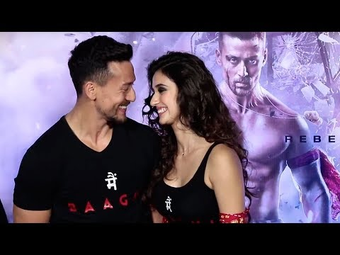 Tiger Shroff FLIRTS With Girlfriend Disha Patani in Public At Baaghi 2  Launch