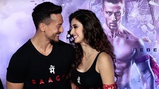 Tiger Shroff FLIRTS With Girlfriend Disha Patani in Public At Baaghi 2 Trailer Launch