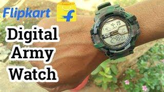 Flipkart Digital Army Look Watch   Unboxing & Review   Must Watch Before Buy   2018