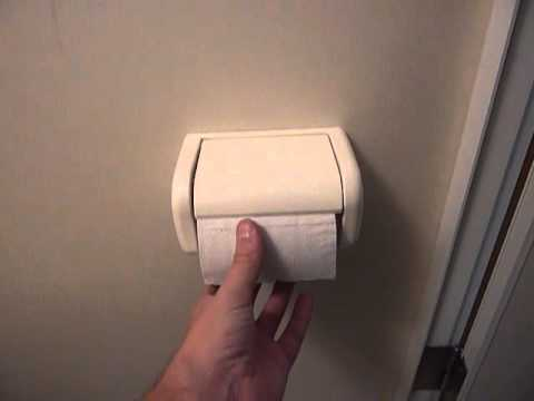 A Simple Welldesign Toiletroll Holder In Japan YouTube - Japanese toilet paper holder