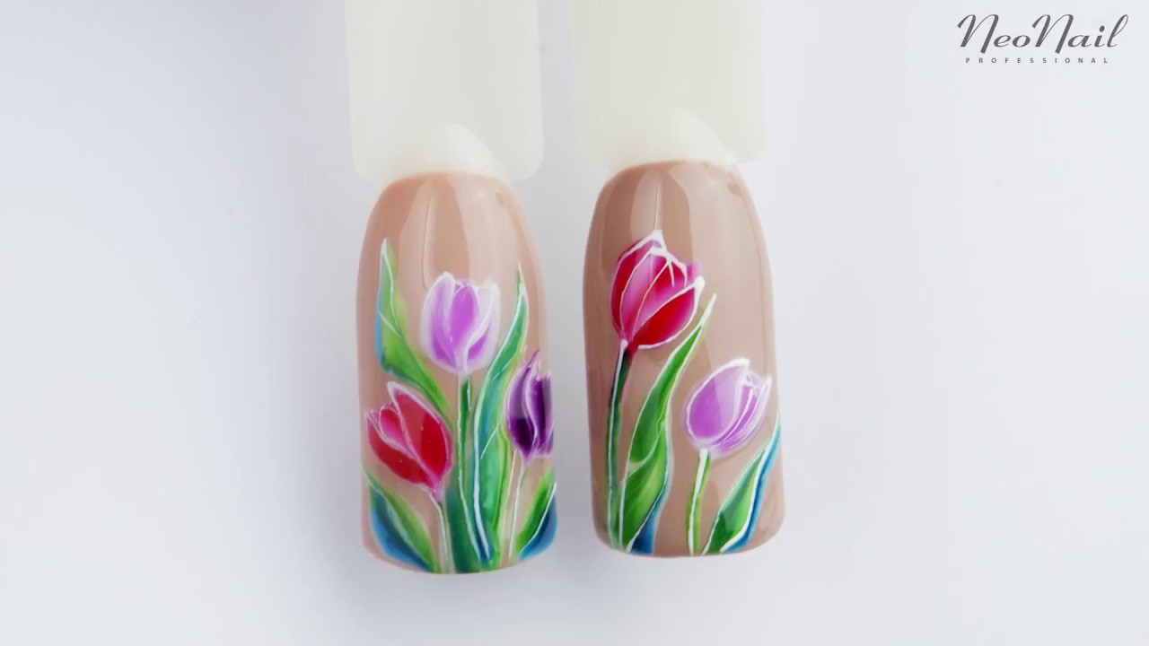 Neonail Shorts Tulipan Kolorowe Wiosenne Zdobienie Youtube