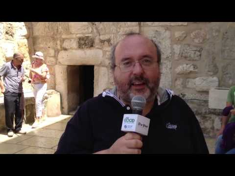 Fr. Paul Soper on entering the Basilica of the Nativity in Bethlehem