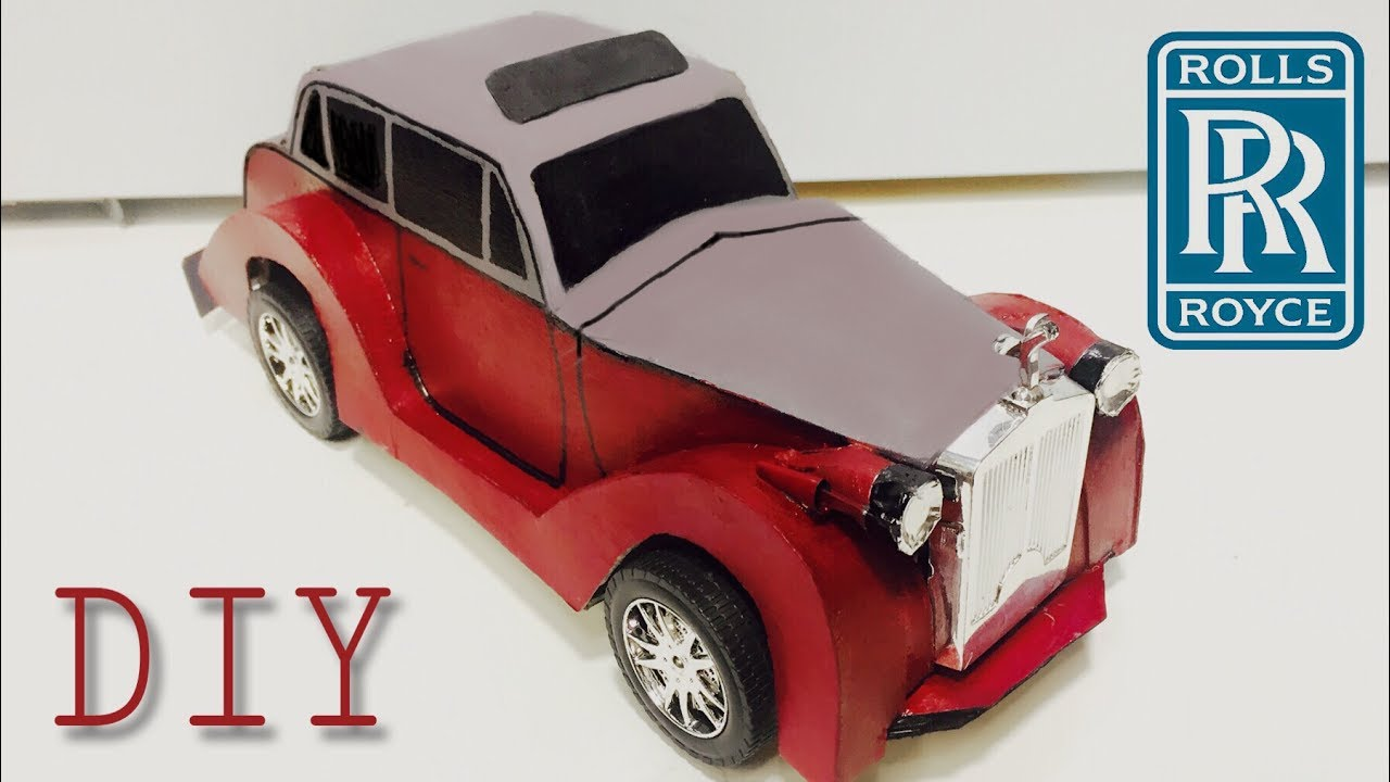 Diy Vintage Rolls Royce Rental Toy Car Out Of Cardboard Youtube