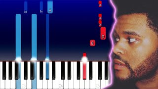 The Weeknd - Hardest To Love (Piano Tutorial)