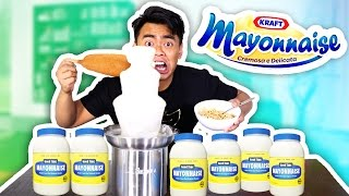 Mayonnaise Fondue Experiment! (GROSS ALERT!)