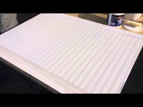 Wall Panel Wallpaper - Beadboard Look