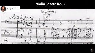 Play Sonata for violin & piano No. 3 in A minor, WoO 27